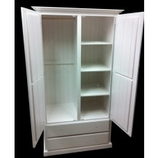 900mm (W) 2 Door 2 Drawer Combo Robe white