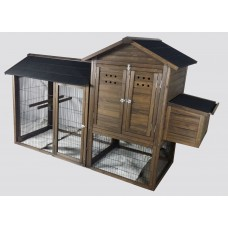 Chicken Coop Rabbit Hutch Guinea Pig Ferret Cage Hen Chook House Run GC022