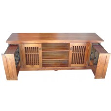 Solid Timber TV Lowline With Pullouts 1900mm