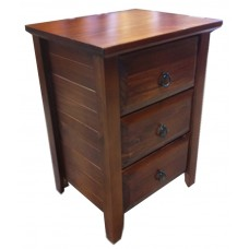 Manilla 3 Drawer Bedside Table