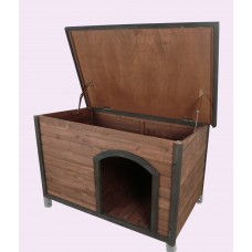 X-LARGE WOODEN DOG HOUSE TIMBER DOG KENNEL WOOD HOUSE
