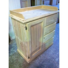 Solid Timber Baby Change Table  and Nursery Robe