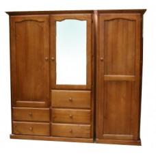 Mudgee 1800w 3 Door 5 Drawer Robe