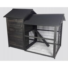 Chicken Coop Rabbit Hutch Guinea Pig Ferret Cage Hen Chook House Run GCP1014A